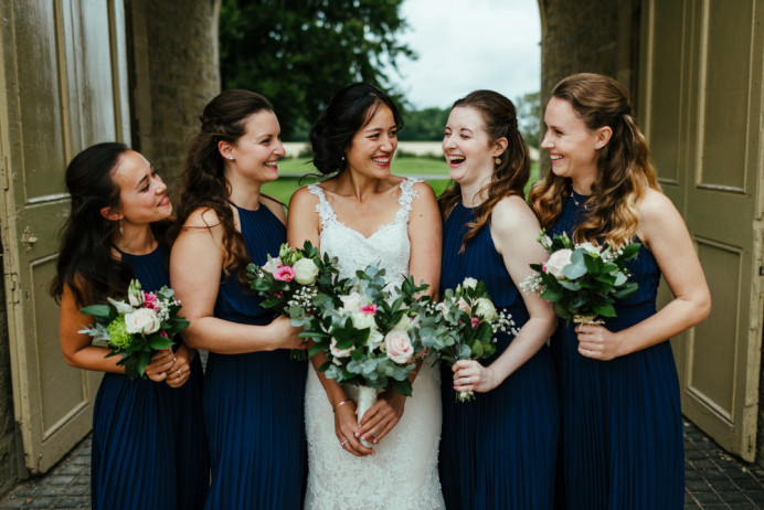 One of my favourite wedding ever, the bride was charming and full of life, naturally beautiful and all her maids where lovely as well. packed day with just me doing full hair and make up all round. Few! - Make Me Bridal Artist: Willow De La Roche. Photography by: Eneka Stewart. #naturalmakeup #bridalhair #romantichairup