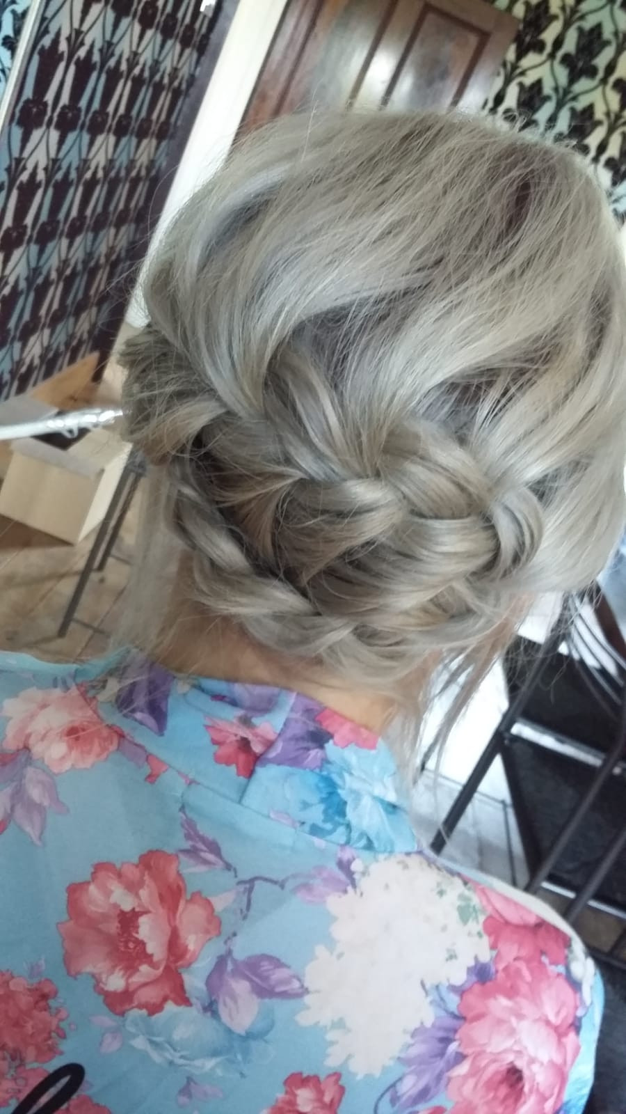 This gorgeous plaited up do looks fab on this bridesmaids hair. Ideal for hot summer wedding days. - Make Me Bridal Artist: Barnet & Boatrace. Photography by: Barnet & Boatrace's own. #bohemian #bridesmaidhair #plaitupdo