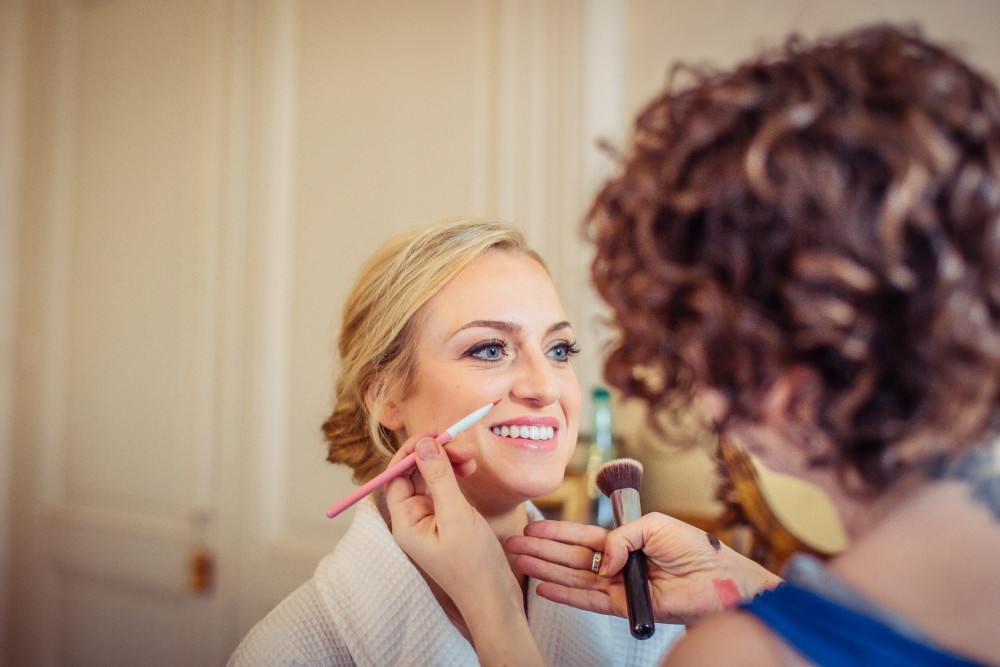 - Make Me Bridal Artist: Makeup by Katy. Photography by: Hajley. #classic #pinklipstick #flawlessskin #francewedding