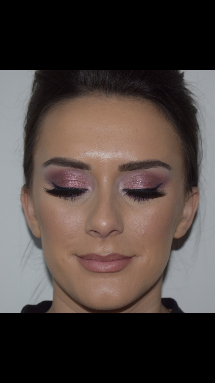 Dramatic Glam glitter eyes with strip lashes and liner - Make Me Bridal Artist: The studio effect .
