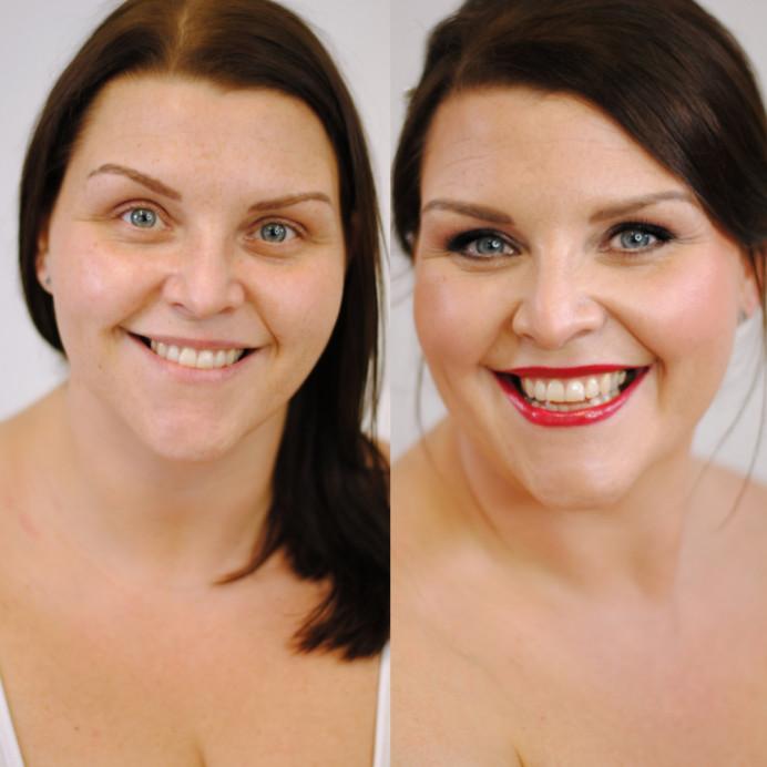 - Make Me Bridal Artist: Jenna Dale Makeup Artist. Photography by: Jenna Dale. #bridalmakeup #smokeyeyes #redlipstick #naturalbeauty