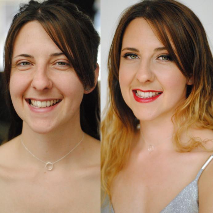 - Make Me Bridal Artist: Jenna Dale Makeup Artist. Photography by: Jenna Dale. #smokeyeyes #modern #redlips #radiantbride