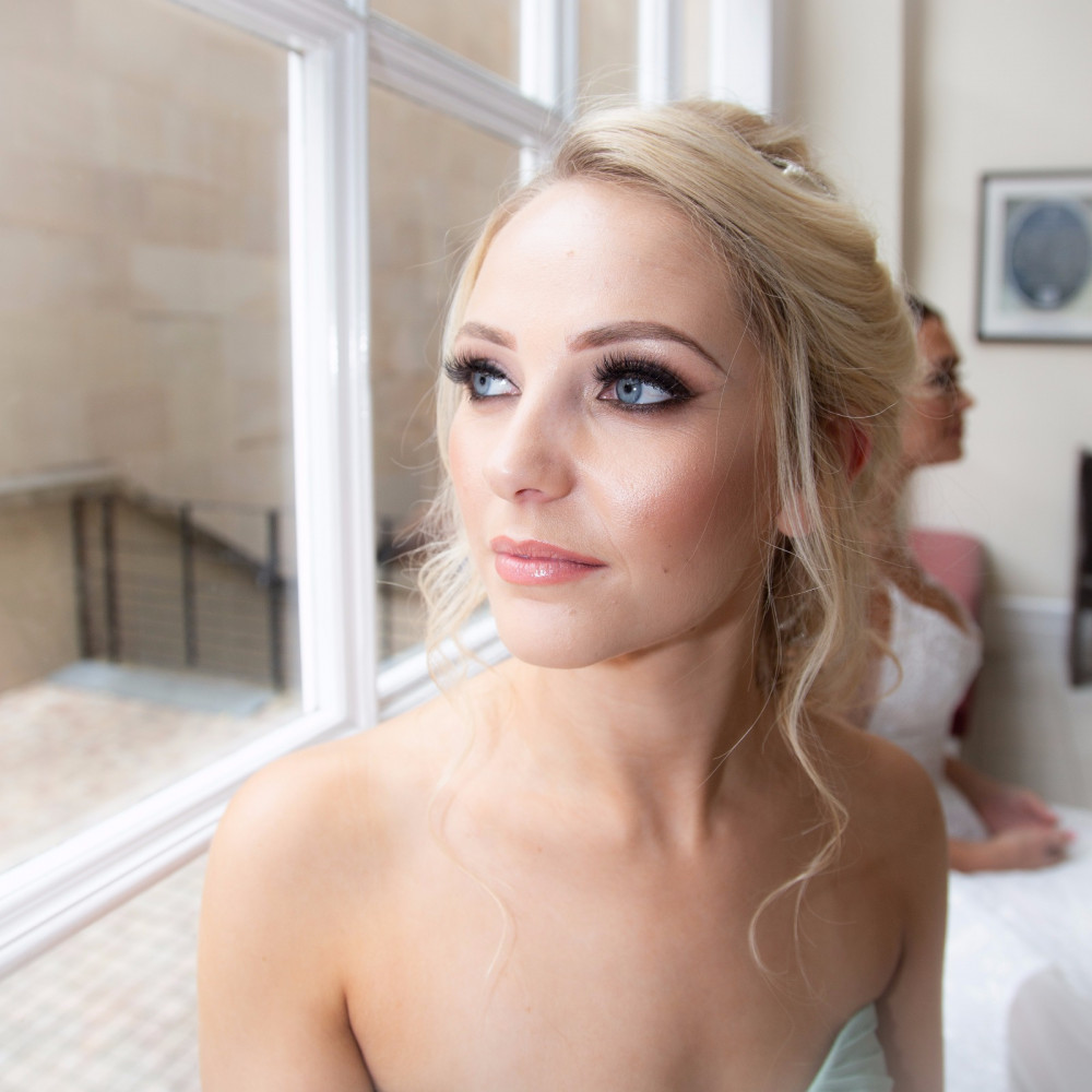 Beautiful Nicola has such beautiful eyes that needed to be showed off with a classic smokey look and fluttery lashes. - Make Me Bridal Artist: Amy Collins Makeup Artist . Photography by: Rhian grayson. #classic #blonde #soft #elegant #smokeyeyes #beauty #charlottetilbury #glowingskin