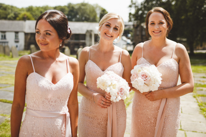 Ceri's beautiful bridesmaids this summer - Make Me Bridal Artist: Amy Collins Makeup Artist . Photography by: tony wilson . #classic #glamorous #summer #rosegold #girly