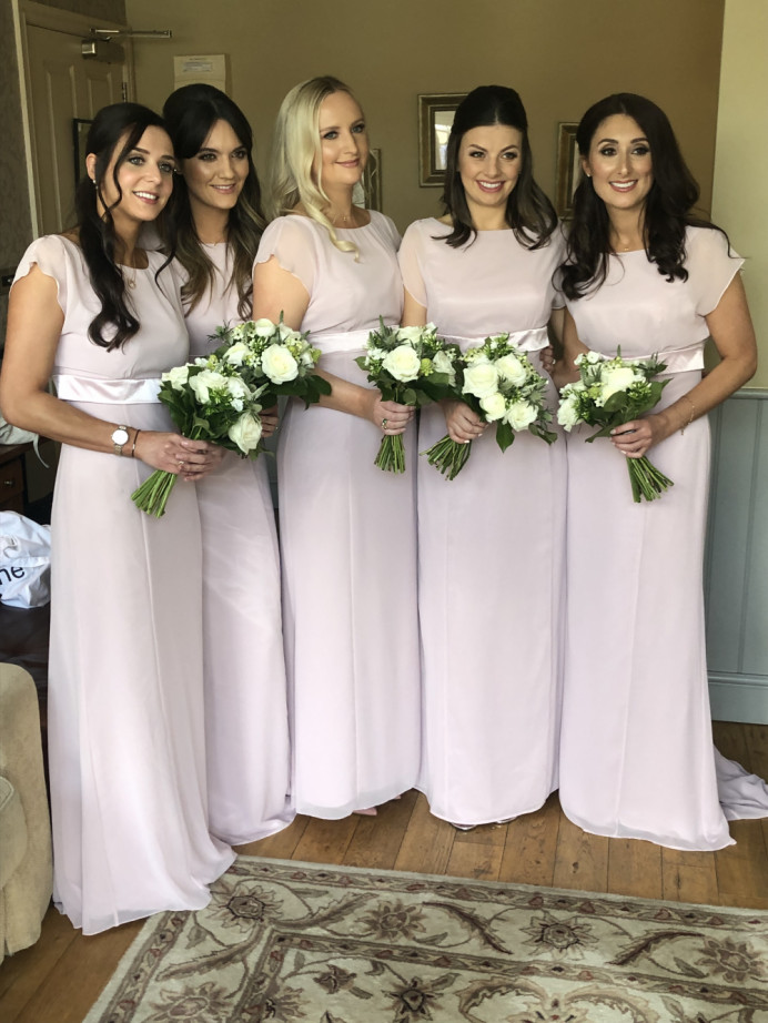 Rachel's beautiful Bridesmaids wearing mainly charlotte tilbury products for a beautiful glow - Make Me Bridal Artist: Amy Collins Makeup Artist . #classic #charlottetilbury #elegantmakeup #romantic #girly #blush