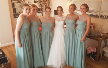 The beautiful Bride with her Bridesmaids - Make Me Bridal Artist: Makeup By Sarah.