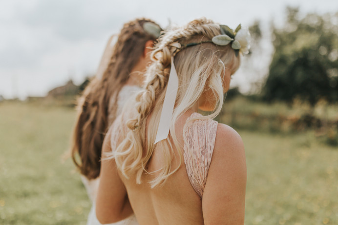 Boho braids and flower crowns - Make Me Bridal Artist: Wild Rose Hair . Photography by: Lianne Gray. #bohemian #boho #flowercrown