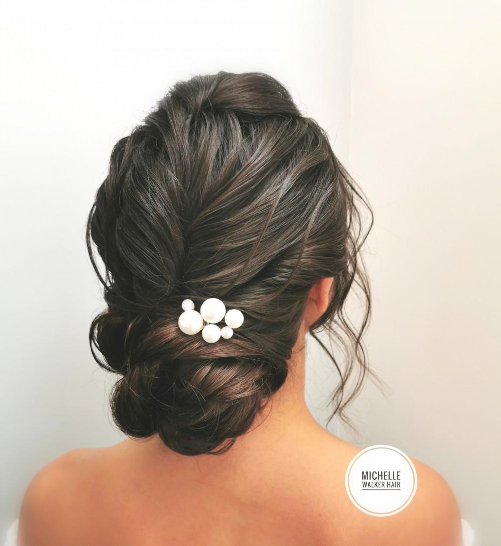 - Make Me Bridal Artist: Michelle Walker Hair. Photography by: Michelle Walker. #modernbride #weddinghairessex #updo #essexbride #londonbride #essexwedding #bridalhairessex