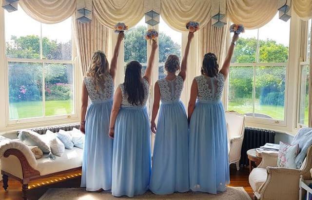 Bride Tribe - Make Me Bridal Artist: Victorianightingalehair. #bridesmaidshair #bridetribe