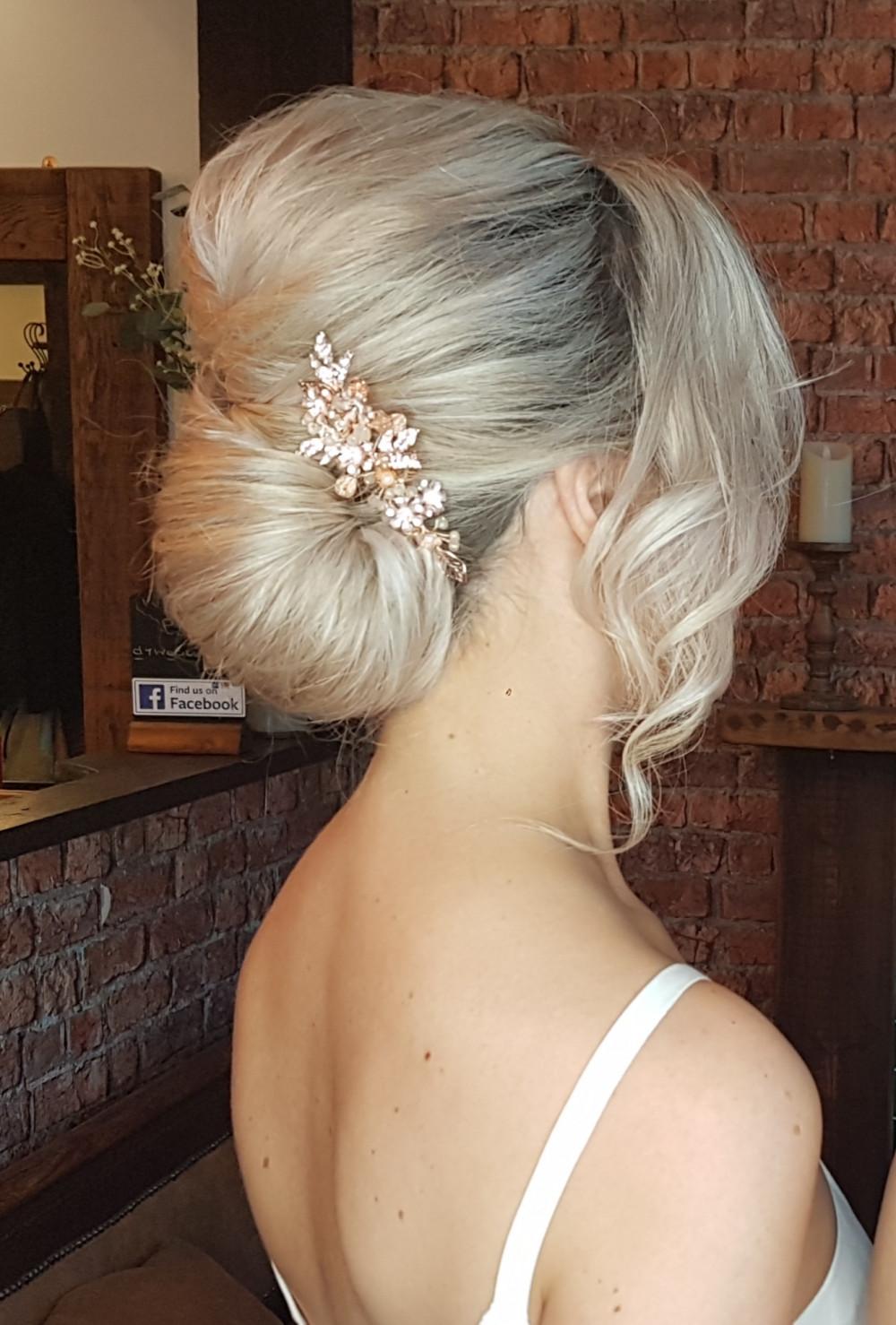 Chic bridal glam - Make Me Bridal Artist: Victorianightingalehair. #bridalhair #bridehair #classichair