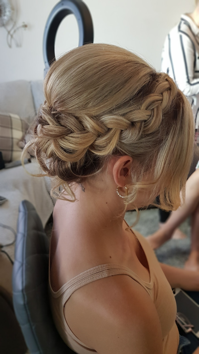 Braided updo - Make Me Bridal Artist: Victorianightingalehair. #braidedupdo #bridesmaidhair