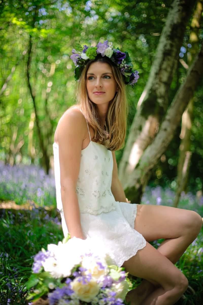 - Make Me Bridal Artist: Sammy Jo The Beauty Box. Photography by: Just Jodie Photography. #boho #flowercrown #bridalmakeup