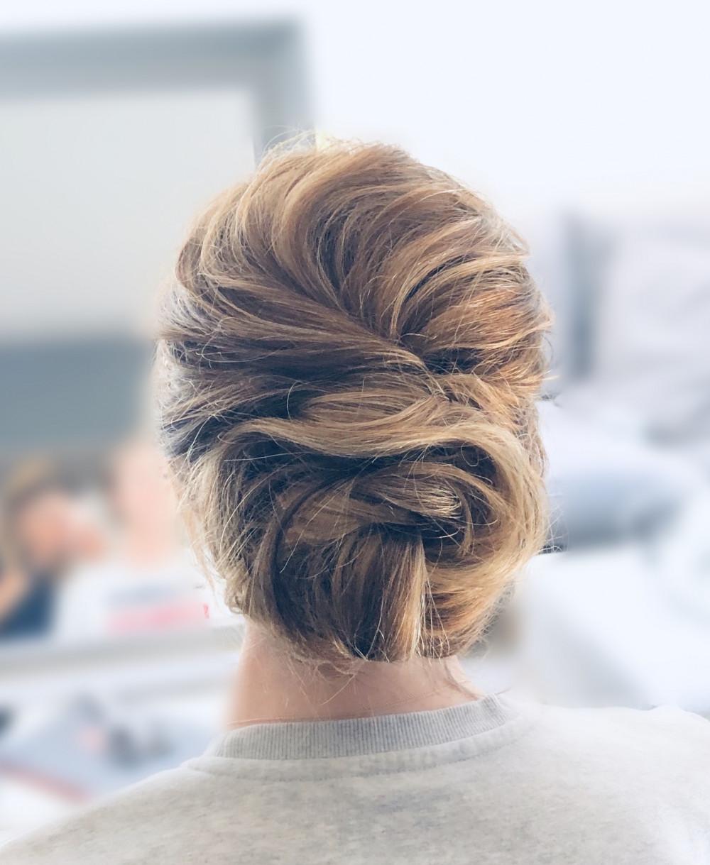 Hair by CJ (CJ's Directors Package) - Make Me Bridal Artist: CJ Beauty & Co. #glamorous #boho #romantichairup #bridalhair #softupdo #softhairup #romance #bohobride #messyupdo #bridalupdo #messyhair