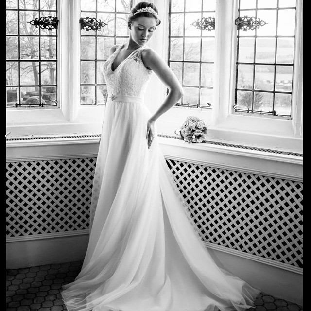This gorgeous bride got married at Danesfield House and her dress, makeup and hair style complimented the venue so incredibly well.  - Make Me Bridal Artist: Beckie Welfare Hair & Makeup.