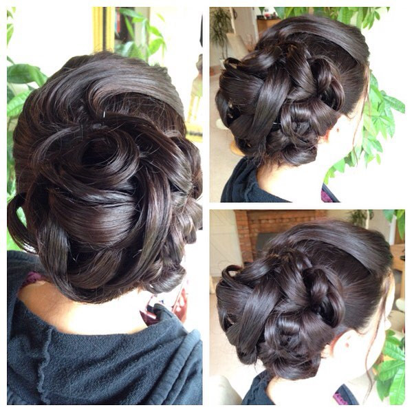 Heated rollers, lots and hair spray, several hair pins later and a finishing shine spray is sometimes all you need! - Make Me Bridal Artist: Beckie Welfare Hair & Makeup.