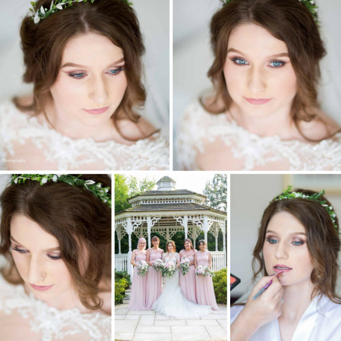Fran wanted a classic english rose complexion with a glam eye and brow....we had so much fun on her wedding morning, her girl gang were on excellent form :) - Make Me Bridal Artist: Clare Lake, Makeup Artist. Photography by: Emma Migden. #glamorous #bridalmakeup #coolbride