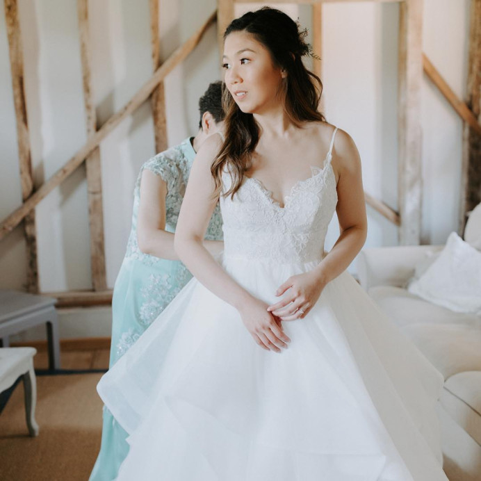 The very beautiful May on her wedding day, we opted for a natural dewy look, simply stunning. - Make Me Bridal Artist: Clare Lake, Makeup Artist. Photography by: alexlasota_.