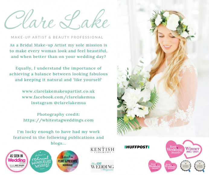 Most recent advert for my work for an upcoming wedding fair :) - Make Me Bridal Artist: Clare Lake, Makeup Artist.