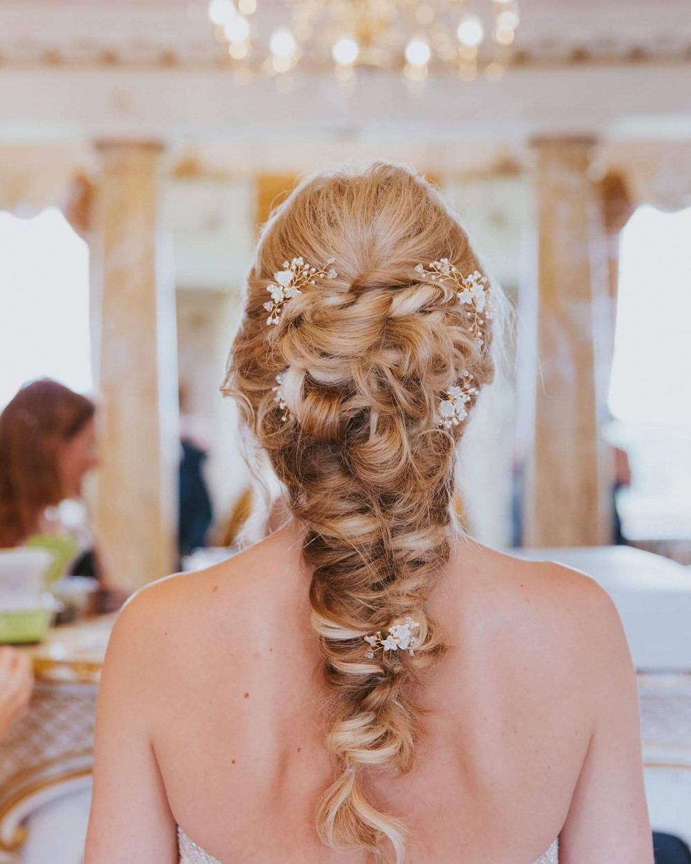 This soft unstructured braid is just so dreamy, just perfect for when you want your hair away from your face but still showing off the length of your hair - Make Me Bridal Artist: Bridal hair by Jennie . Photography by: scott miller . #bohemian