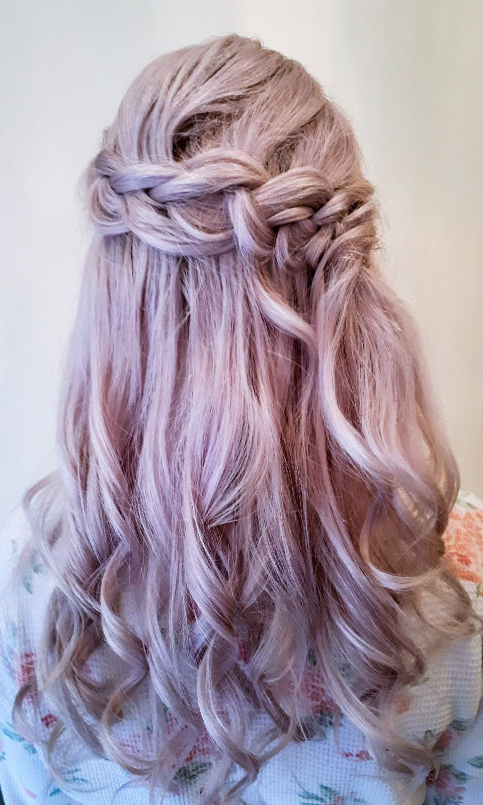 Gorgeous beach waves with a chunky braid a fantastic alternative to half up half down  , when your looking very natural, boho, wedding fair - Make Me Bridal Artist: Bridal hair by Jennie . Photography by: Bridal hair by Jennie . #bohemian
