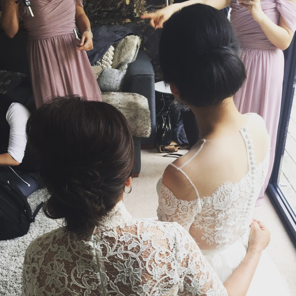 - Make Me Bridal Artist: Love your hair Cassandra . #classic #weddingmorning #bridalhair #elegant #weddinghair #updo #bride #sleek #bridesmother #beautiful