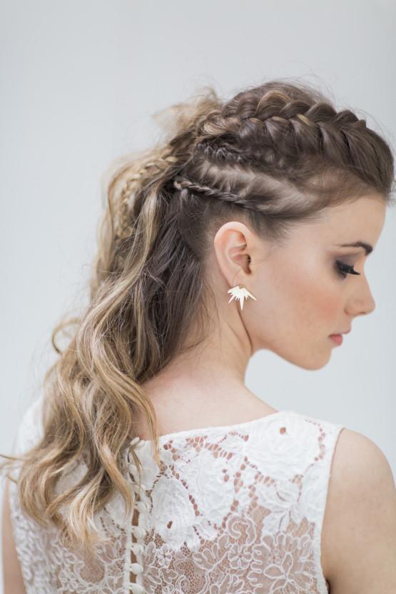 - Make Me Bridal Artist: Love your hair Cassandra . #halfuphair #bridesmaidhair #braidedupdo #weddinghair #braids #coolbride #waves #bride