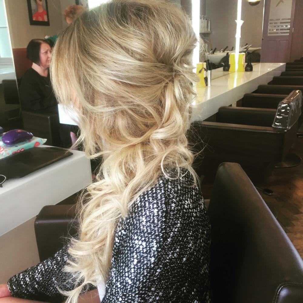 - Make Me Bridal Artist: Love your hair Cassandra . #halfuphair #bridalhair #elegant #bridesmaidhair #weddinghair #coolbride #bride #glamourous #curls #hairextensions