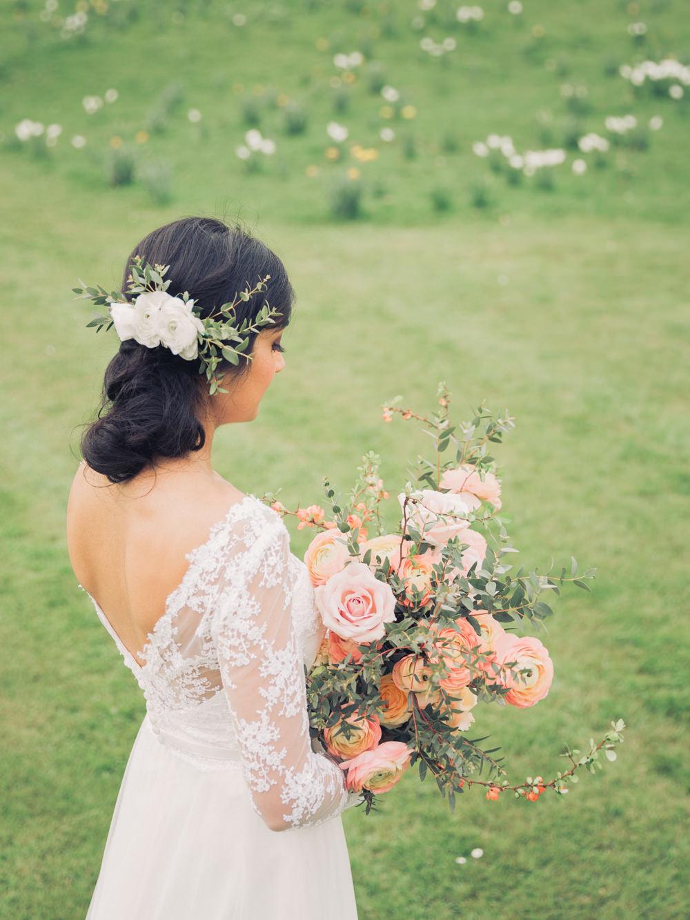 - Make Me Bridal Artist: Love your hair Cassandra . #bridalhair #updo #elegant #lowupdo #romantichairup #bridesmaidhair #weddinghair #bridesmaid #indianbride