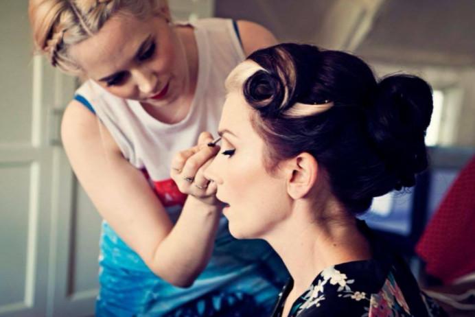 Makeup for Natalie ❤️ - Make Me Bridal Artist: Chloe Dixon. #vintage #gettingready #bridalmakeup #lashes