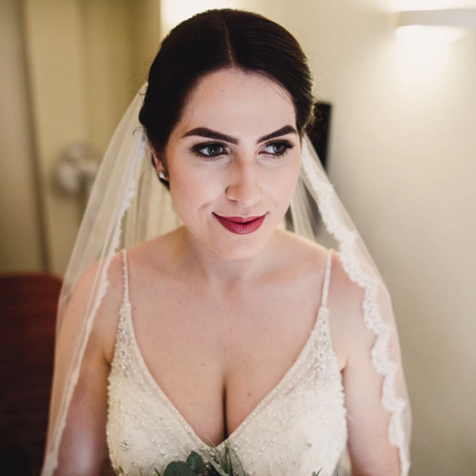 This makeup was designed to be soft but enhance my brides beautiful features. - Make Me Bridal Artist: Natasha Jane makeup . #classic #naturalmakeup #weddingmorning #bridalmakeup #glow #updo #goldeyeshadow