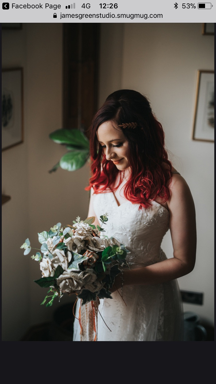 This gorgeous bride wanted beautifully natural makeup. I loved the unusual touches this bride had on her wedding day.. such as a bouquet made from book pages!! It was incredible. - Make Me Bridal Artist: Natasha Jane makeup .