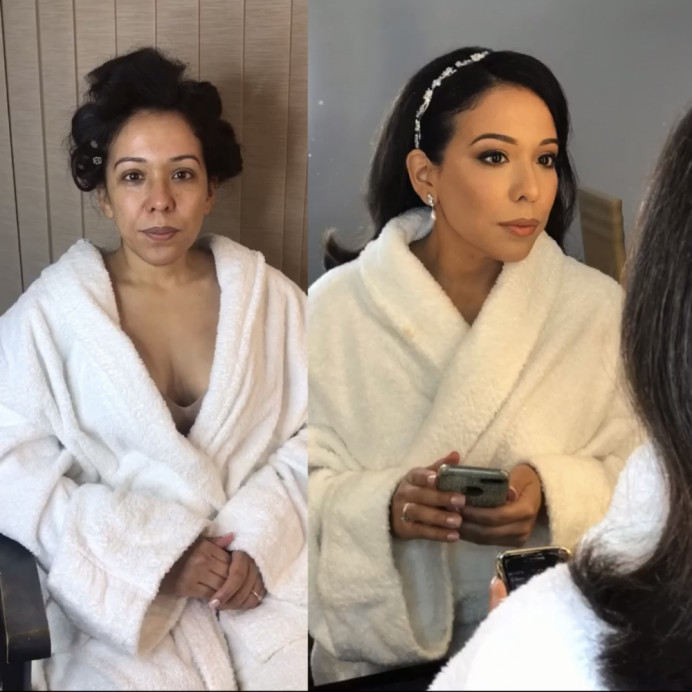 - Make Me Bridal Artist: Oksana Williams Hair&Makeup Artist . #glamorous #beforeandafter #transformation #bridemakeup
