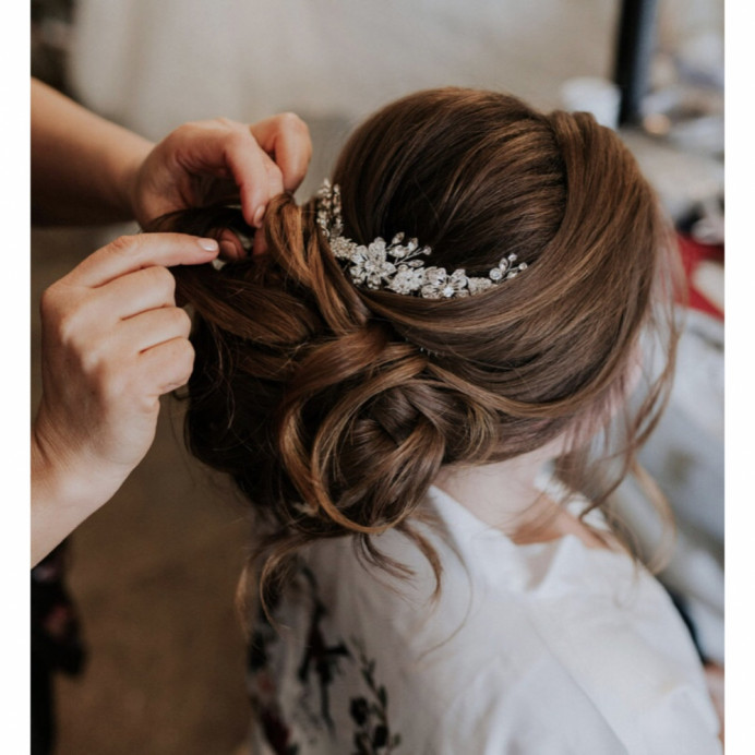 - Make Me Bridal Artist: Oksana Williams Hair&Makeup Artist . #classic #hairup #lowbun #weddinghair #hairvolume #voluminousupdo #berkshireweddings