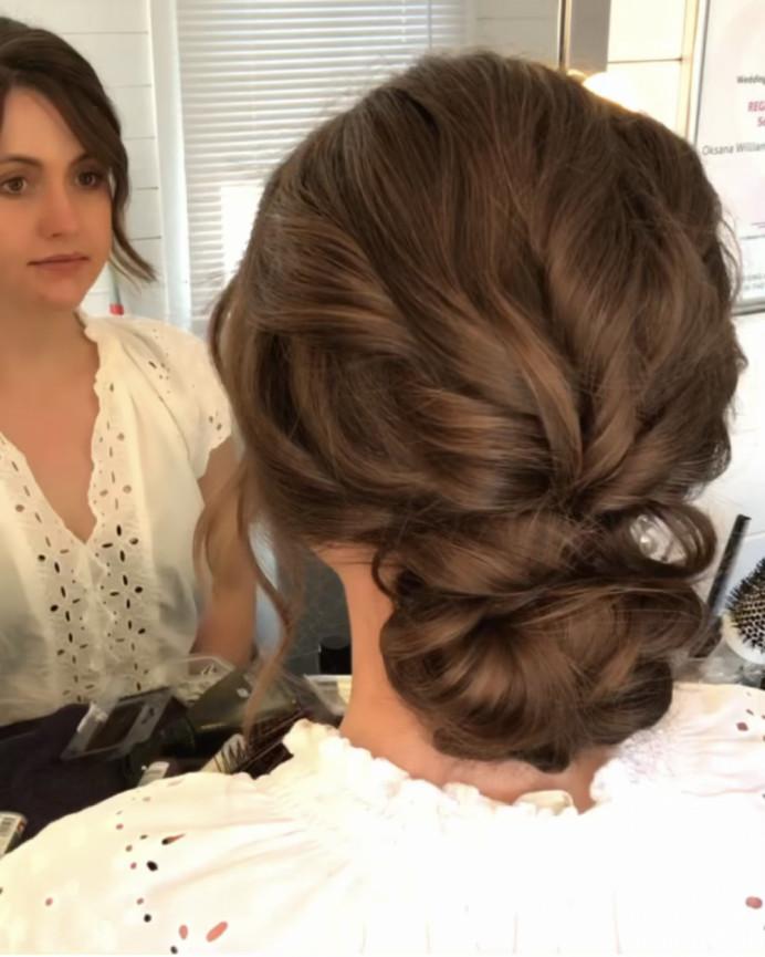 - Make Me Bridal Artist: Oksana Williams Hair&Makeup Artist . #bohobride #twistedupdo