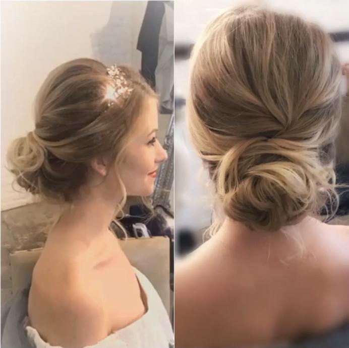 - Make Me Bridal Artist: Oksana Williams Hair&Makeup Artist . #lowbun #weddinghair #bride #messybun