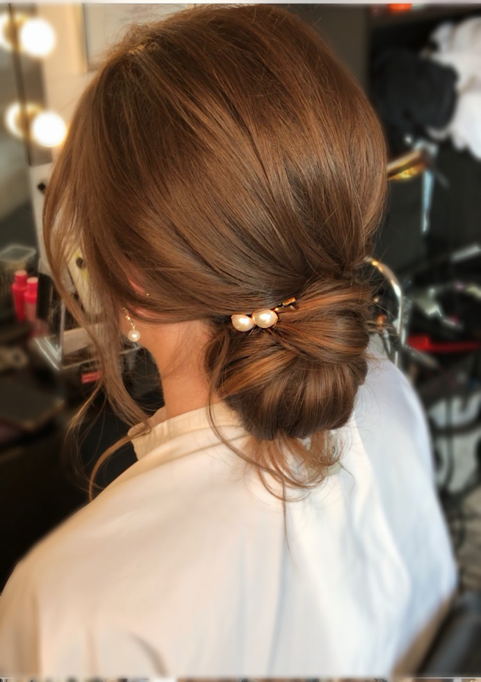 - Make Me Bridal Artist: Oksana Williams Hair&Makeup Artist . #lowupdo #weddinghair #bridalbun #lowbun