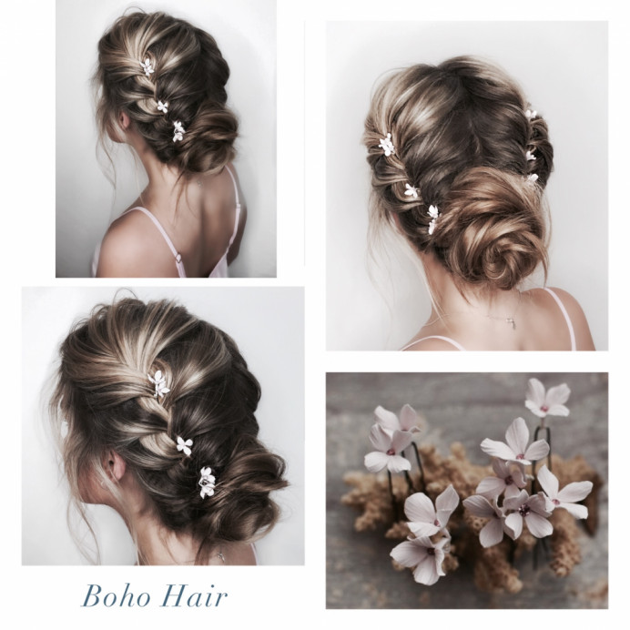 - Make Me Bridal Artist: Oksana Williams Hair&Makeup Artist . #bohemian #braidedupdo #bohobride #bohowedding #bohohair #plaitedupdo