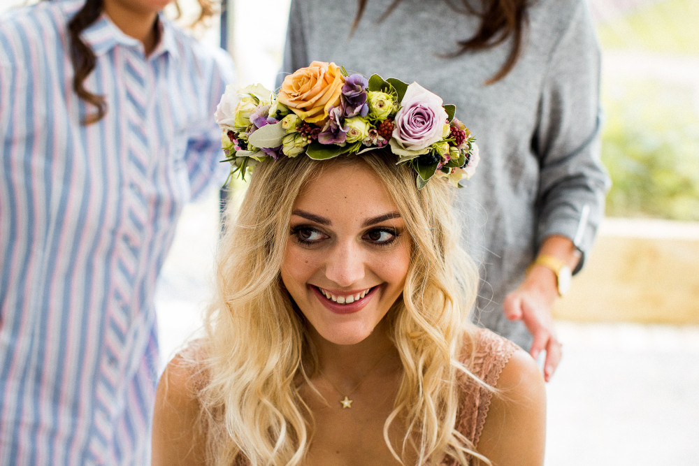 Youyouwedding  Suesallaboutyou your make up is flawless and so pretty - Make Me Bridal Artist: All About You. #bohemian