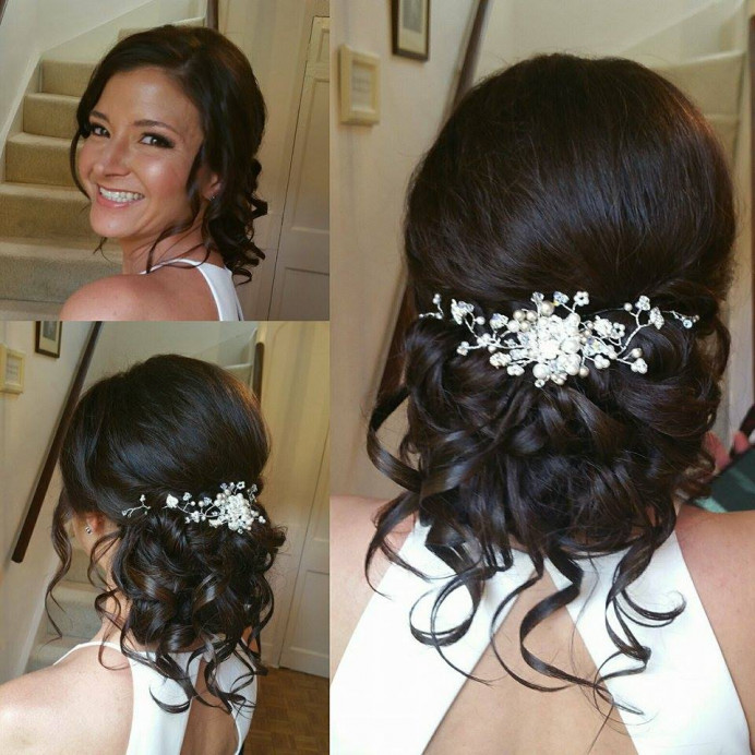 Amys lovely wedding look at Hedingham Castle - Make Me Bridal Artist: Beautiful Hair 4 Weddings. Photography by: Myself. #bridalhair
