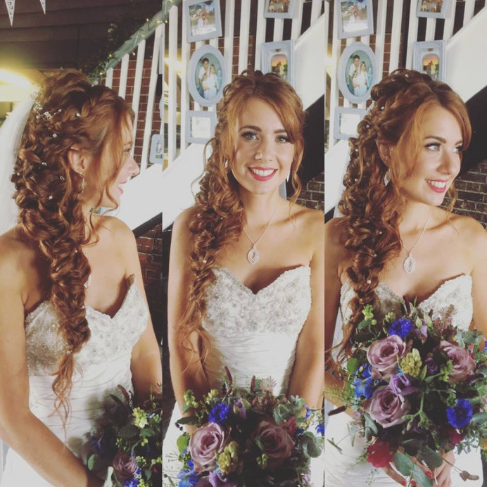 Sophie's Mermaid Braid - Make Me Bridal Artist: Beautiful Hair 4 Weddings. Photography by: Myself. #boho #braidedupdo #mermaidbraid #fishtail