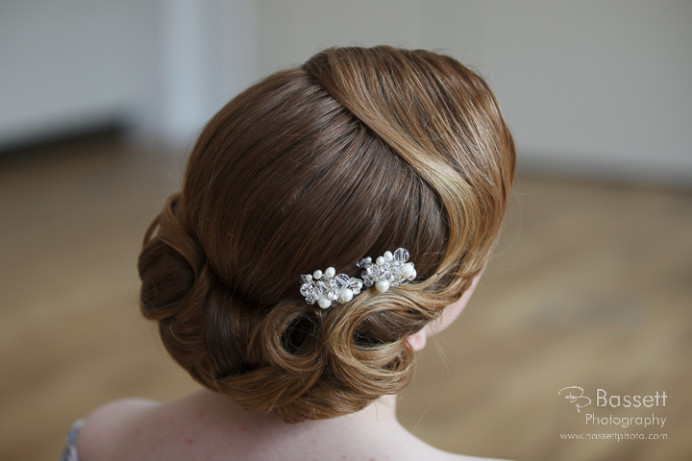 Classic Vintage styling - Make Me Bridal Artist: Beautiful Hair 4 Weddings. Photography by: David Bland. #classic #vintage #hairup