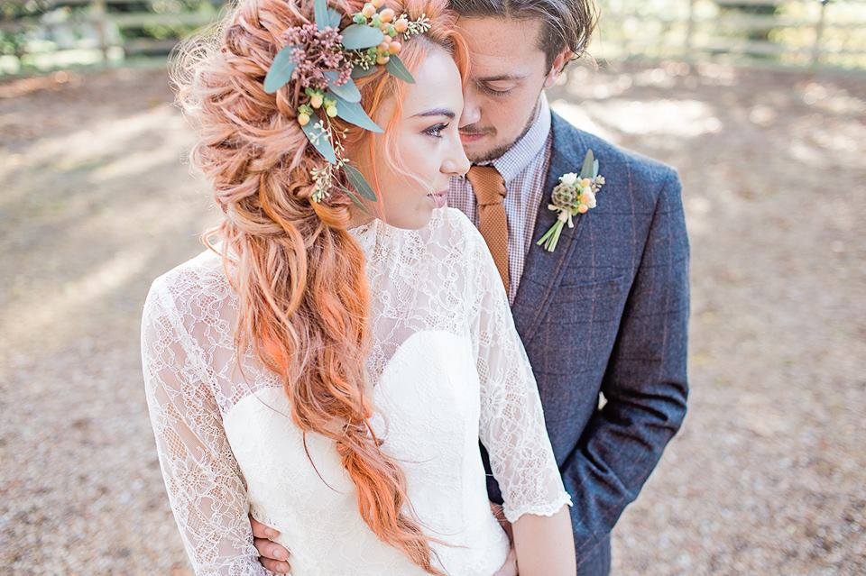 Soft undone braid for Chloe - Make Me Bridal Artist: Beautiful Hair 4 Weddings. Photography by: Ilaria Petrucci . #boho #flowercrown #soft #bohemian