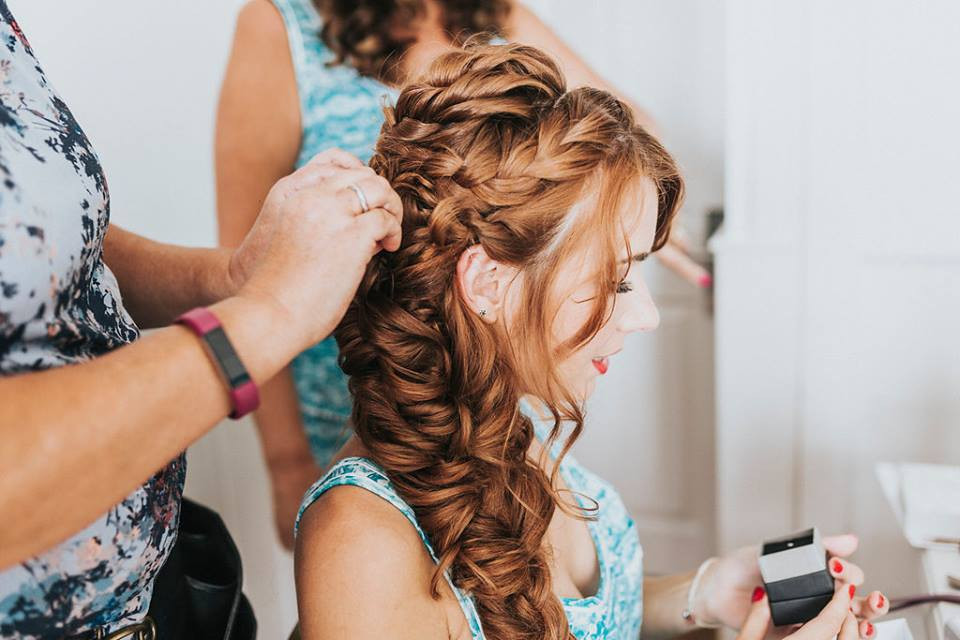 Sophies amazing beach wedding - Make Me Bridal Artist: Beautiful Hair 4 Weddings. Photography by: Jay Anderson. #actionshot #bighair #hairextensions #texture #brideshair #romantic #mermaidbraid #bohemian