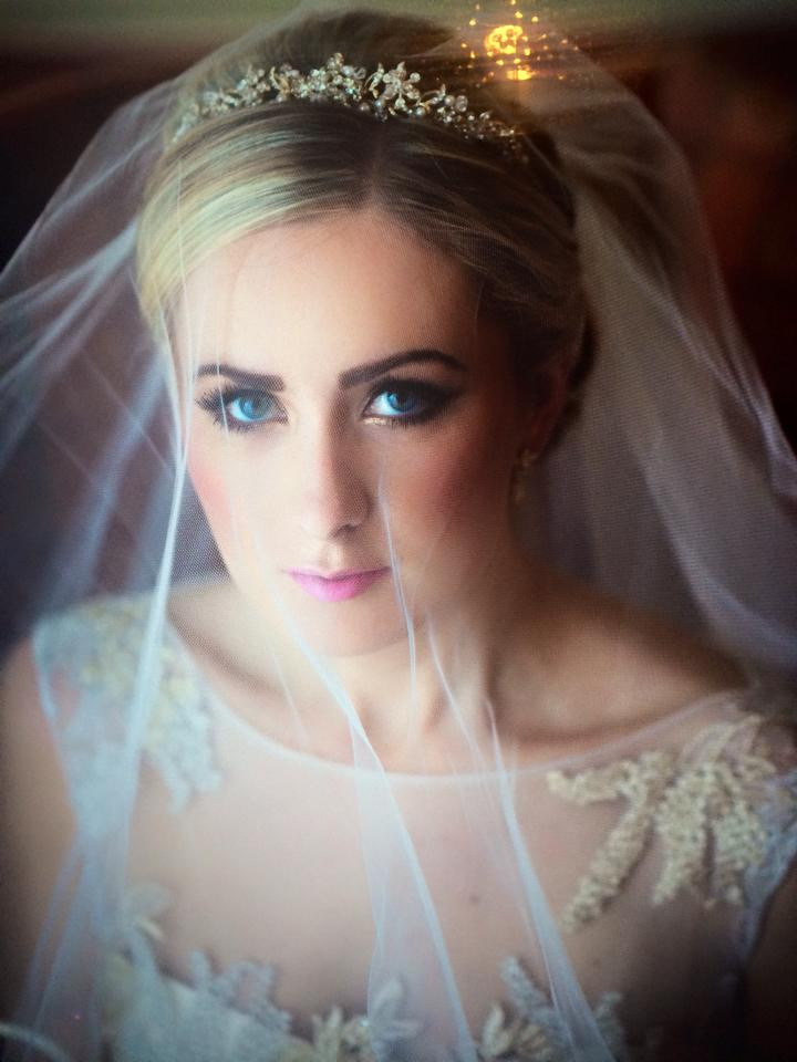 Down Hall wedding venue. Smokey eyes with golden highlights - Make Me Bridal Artist: Emma Brooks Make-up. #classic #bridalmakeup #airbrushedmakeup #glamorous #nars #roselip #goldeyeshadow #lashes #perfectmakeup #mac #makeupartist #beautiful