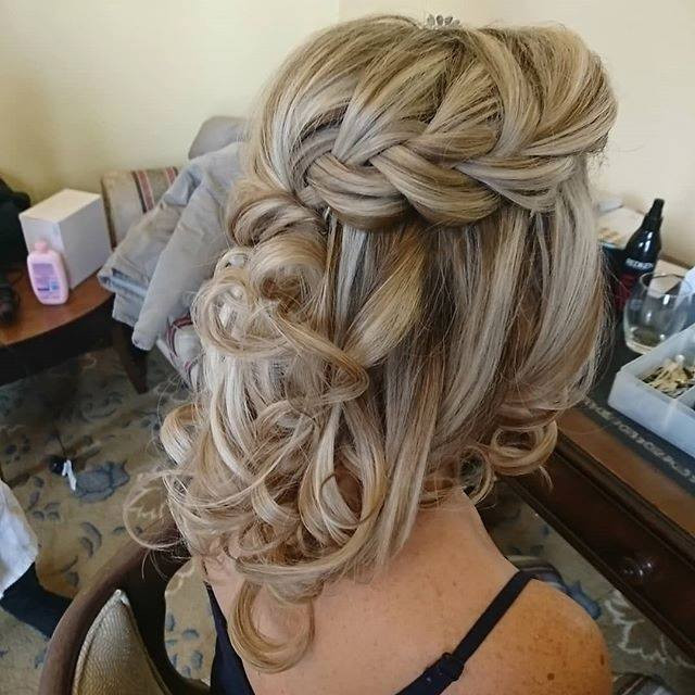 Having a plait in your hair is a lovely way to create a simple half up half down style.  - Make Me Bridal Artist: Hair by Louise Rhodes. #boho #halfuphair #blonde