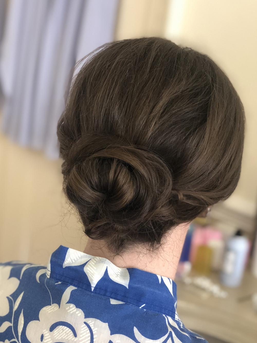 Bridal Rose Inspired Updo  - Make Me Bridal Artist: Sarah Clarke Makeup Artist .