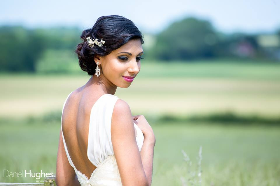 Pink Colour pop lips with lined eyes - Make Me Bridal Artist: Make Up By Jenni. Photography by: Daniel Hughes. #beauty #makeupartist #makeup #asianbride