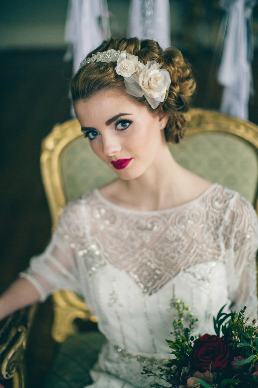 Vintage Bridal Makeup - Make Me Bridal Artist: Make Up By Jenni. Photography by: Photo Lifeline. #bridalmakeup #makeupartist #weddingmakeup #makeup #vintagemakeup #redlip