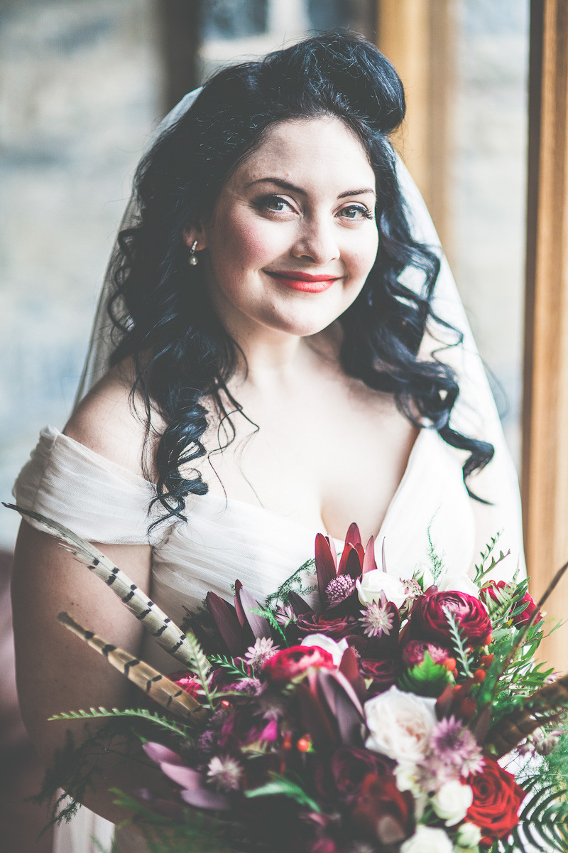 Loved working with our gorgeous vintage inspired bride Hannah - such a stunning winter bride www.cocobellabride.com - Make Me Bridal Artist: Coco Bella Bride. Photography by: Simon Gough.