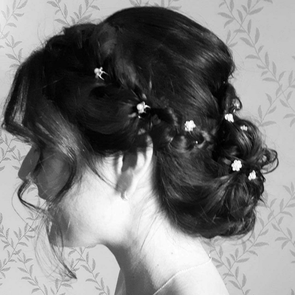 Loved creating this gorgeous up do for bridesmaid Gemma x www.cocobellabride.com - Make Me Bridal Artist: Coco Bella Bride. #bridesmaidhairandmakeup